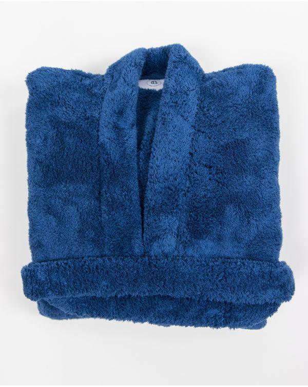 Blue Bubble - Peignoir - Ultra doux - Bleu - Microfibre