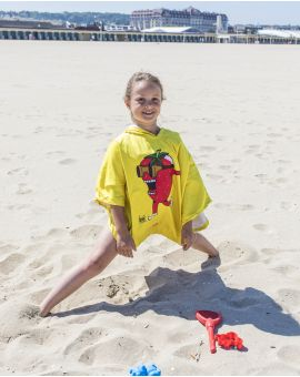 """Poncho de plage enfant - Heiata - """"Ramène ta fraise"""" - 120x60 cm"""