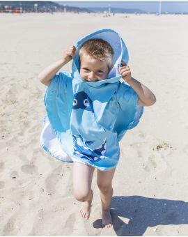 Poncho de plage enfant - Heiata - Dinosaure - 120x60 cm
