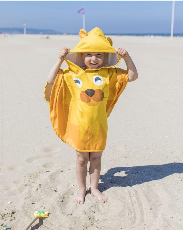 Poncho de plage enfant - Anuanua - Lion - 120x60 cm