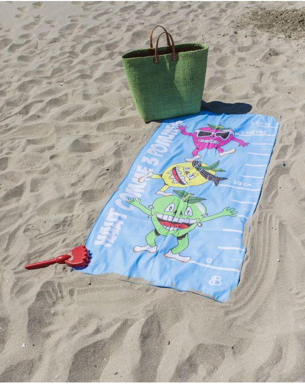 """Drap de plage - Heiata - """"Haut comme 3 pommes"""" - 140x70 cm"""
