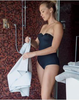 Serviette de toilette - Heiata - Perle - 90x45 cm