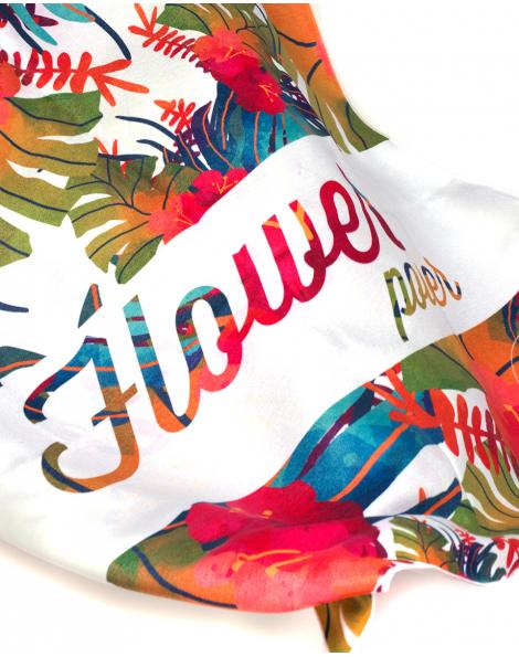Drap de plage - Anuanua - Fleurs exotiques - 180x100 cm
