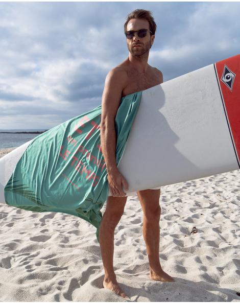 """Drap de plage - Heiata - """"et si on prenait le temps"""" - 180x100 cm"""