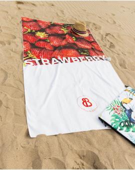 Drap de plage - Heiata - Fraise - 180x100 cm