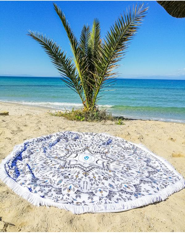 Round beach towel - bohemian