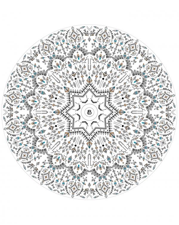 Serviette ronde microfibre - La Bohémienne