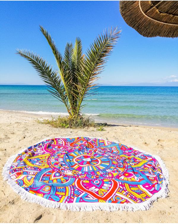 Round beach towel Moroccan