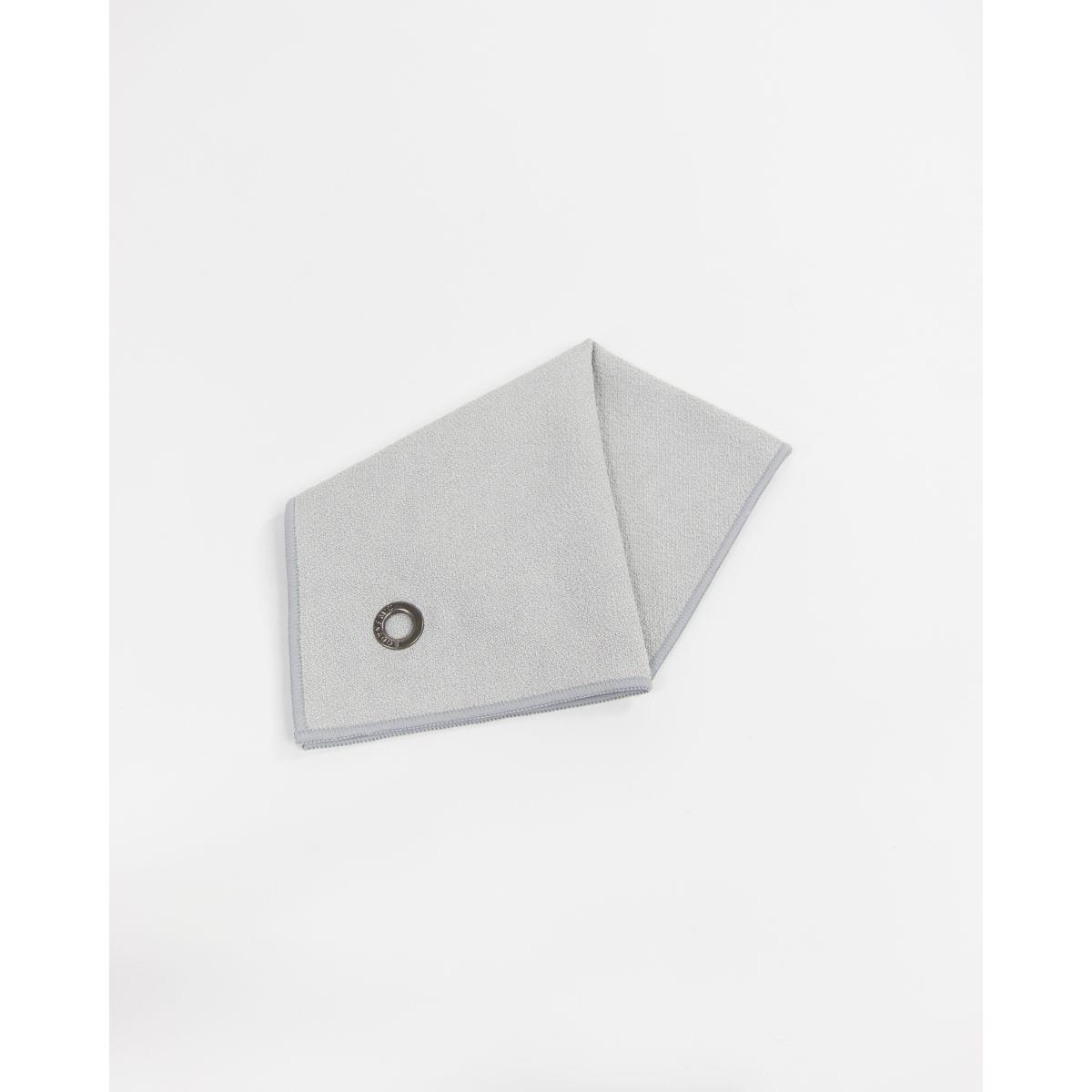 serviette mains visage en microfibre anuanua gris perle bodynamic. Black Bedroom Furniture Sets. Home Design Ideas