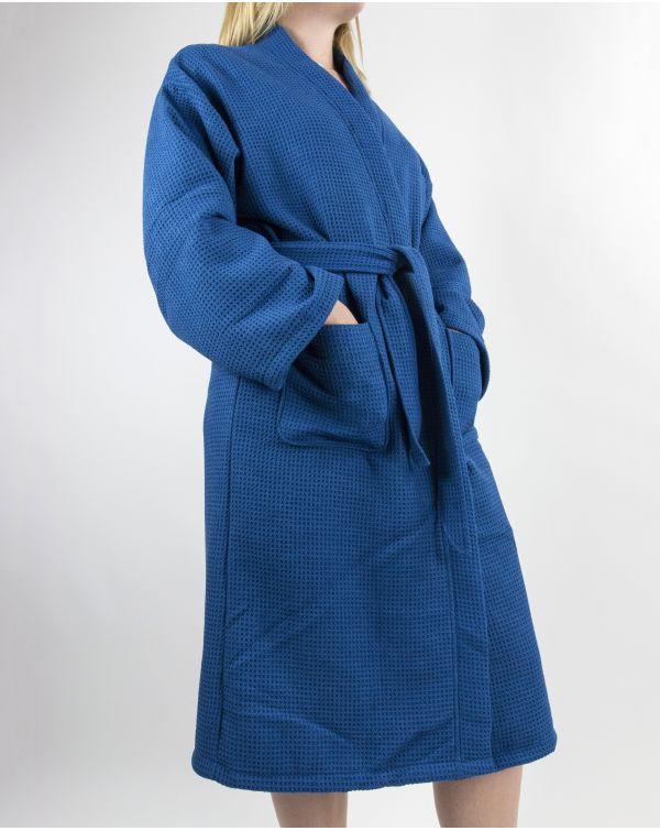 Blue Bubble - Peignoir - Microfibre - Bleu - S/M