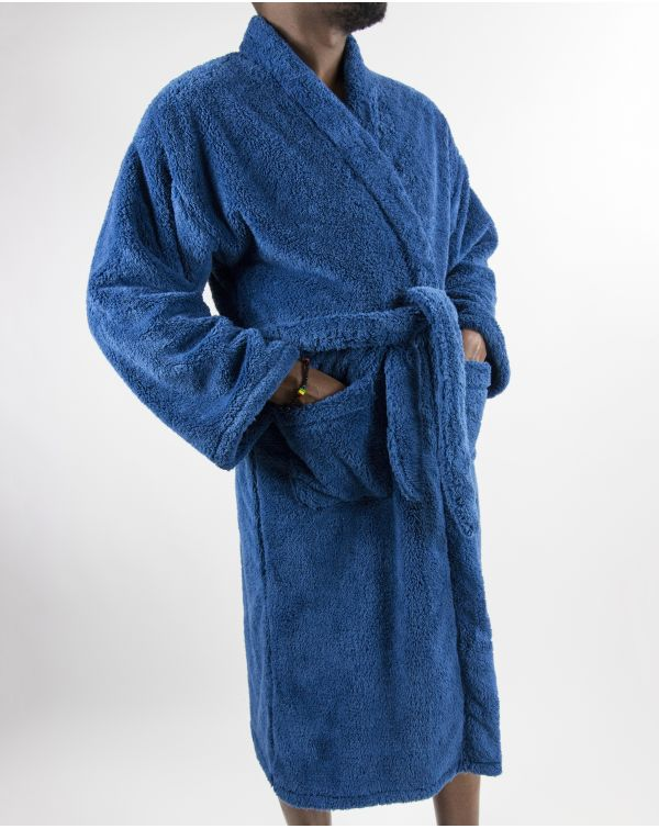 Blue Bubble - Peignoir de luxe - Microfibre - Bleu - S/M