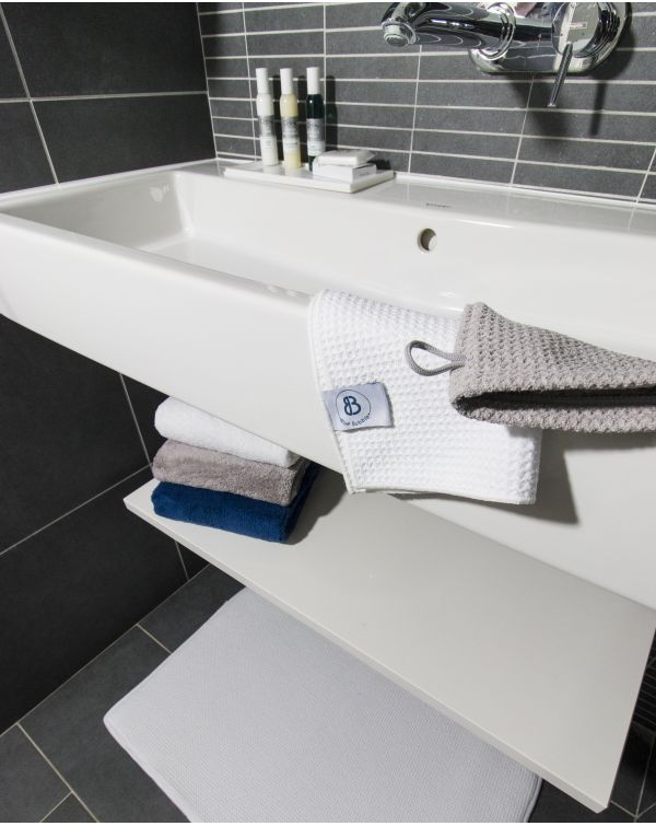 Blue Bubble - Gant de toilette - Bleu - Microfibre
