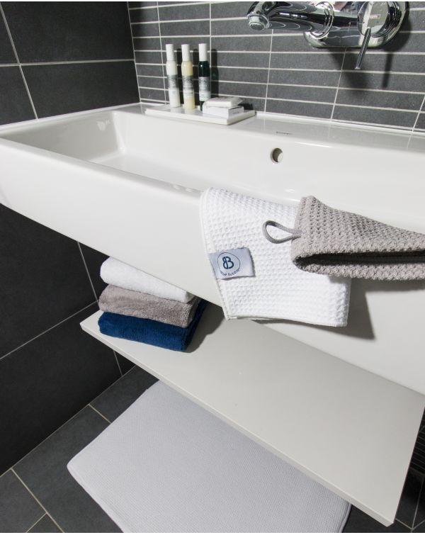 Gant de toilette - Taimiti - Perle - 22x15cm