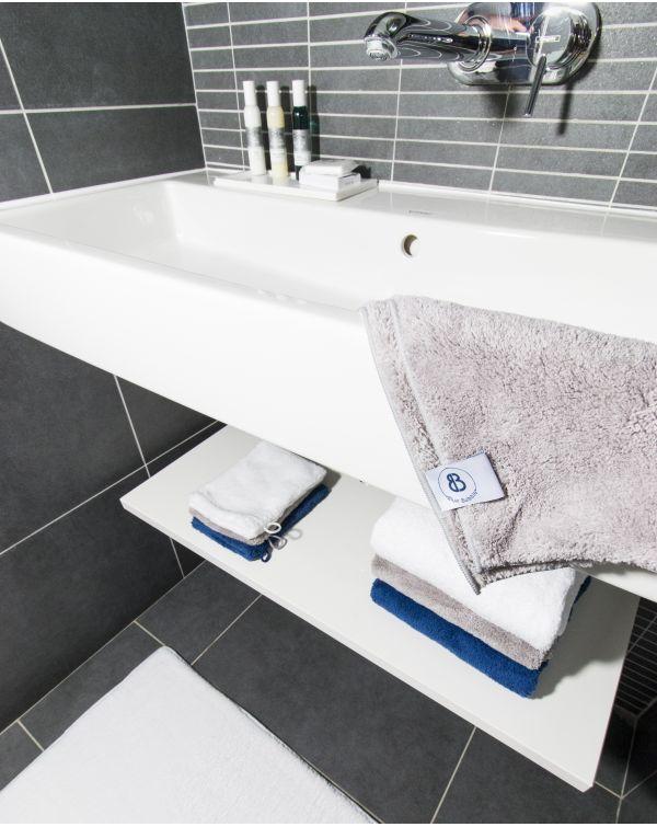 Tapis de bain Memory Mesh® - Manavai - Perle - 80x50cm